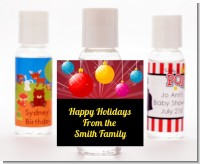 Merry and Bright - Personalized Christmas Hand Sanitizers Favors