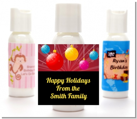 Merry and Bright - Personalized Christmas Lotion Favors