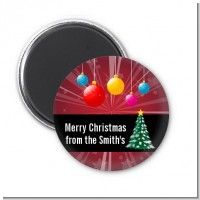 Merry and Bright - Personalized Christmas Magnet Favors