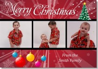 Merry and Bright - Personalized Photo Christmas Cards