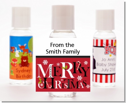 Merry Christmas - Personalized Christmas Hand Sanitizers Favors