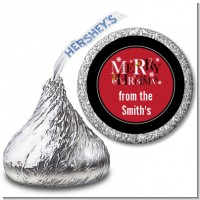 Merry Christmas - Hershey Kiss Christmas Sticker Labels