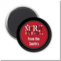 Merry Christmas - Personalized Christmas Magnet Favors