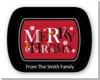Merry Christmas - Personalized Christmas Rounded Corner Stickers