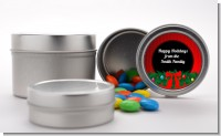 Merry Christmas Wreath - Custom Christmas Favor Tins