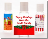 Merry Christmas Wreath - Personalized Christmas Hand Sanitizers Favors