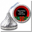 Merry Christmas Wreath - Hershey Kiss Christmas Sticker Labels thumbnail