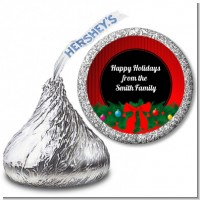 Merry Christmas Wreath - Hershey Kiss Christmas Sticker Labels
