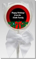 Merry Christmas Wreath - Personalized Christmas Lollipop Favors