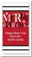 Merry Christmas - Custom Rectangle Christmas Sticker/Labels