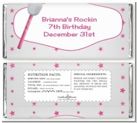 Microphone - Personalized Birthday Party Candy Bar Wrappers