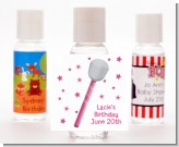 Microphone - Personalized Birthday Party Hand Sanitizers Favors