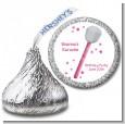 Microphone - Hershey Kiss Birthday Party Sticker Labels thumbnail