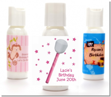 Microphone - Personalized Birthday Party Lotion Favors