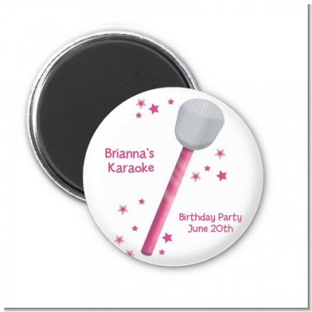 Microphone - Personalized Birthday Party Magnet Favors