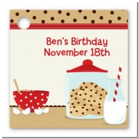 Milk & Cookies - Personalized Birthday Party Card Stock Favor Tags
