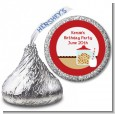 Milk & Cookies - Hershey Kiss Birthday Party Sticker Labels thumbnail