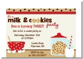 Milk & Cookies - Birthday Party Petite Invitations
