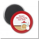 Milk & Cookies - Personalized Birthday Party Magnet Favors