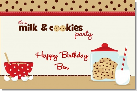Milk & Cookies - Personalized Birthday Party Placemats