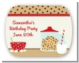 Milk & Cookies - Personalized Birthday Party Rounded Corner Stickers thumbnail