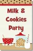 Milk & Cookies - Personalized Birthday Party Wall Art