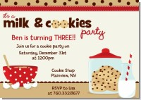 Milk & Cookies - Birthday Party Invitations