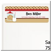 Milk & Cookies - Birthday Party Return Address Labels