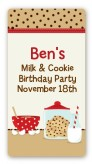 Milk & Cookies - Custom Rectangle Birthday Party Sticker/Labels