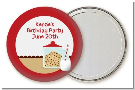Milk & Cookies - Personalized Birthday Party Pocket Mirror Favors