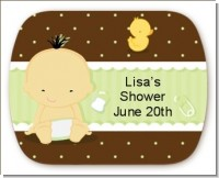 Baby Asian - Personalized Baby Shower Rounded Corner Stickers