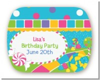 Candy Land - Personalized Birthday Party Rounded Corner Stickers