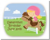 Horseback Riding - Personalized Birthday Party Rounded Corner Stickers