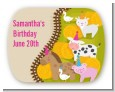 Petting Zoo - Personalized Birthday Party Rounded Corner Stickers thumbnail