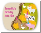 Petting Zoo - Personalized Birthday Party Rounded Corner Stickers