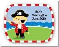 Pirate - Personalized Birthday Party Rounded Corner Stickers