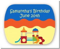 Playground - Personalized Birthday Party Rounded Corner Stickers
