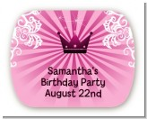 Princess Royal Crown - Personalized Birthday Party Rounded Corner Stickers
