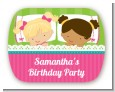 Slumber Party with Friends - Personalized Birthday Party Rounded Corner Stickers thumbnail