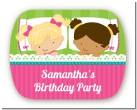 Slumber Party with Friends - Personalized Birthday Party Rounded Corner Stickers