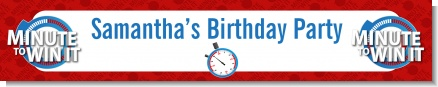 Minute To Win It Inspired - Personalized Birthday Party Banners