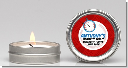 Minute To Win It Inspired - Birthday Party Candle Favors