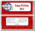 Minute To Win It Inspired - Personalized Birthday Party Candy Bar Wrappers thumbnail