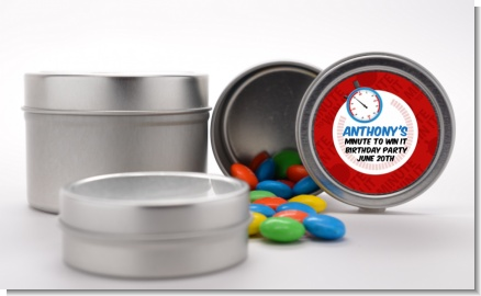 Minute To Win It Inspired - Custom Birthday Party Favor Tins