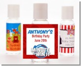 Minute To Win It Inspired - Personalized Birthday Party Hand Sanitizers Favors