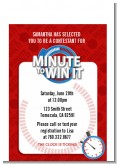 Minute To Win It Inspired - Birthday Party Petite Invitations