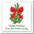 Mistletoe - Square Personalized Christmas Sticker Labels thumbnail