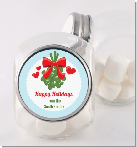 Mistletoe - Personalized Christmas Candy Jar