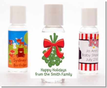 Mistletoe - Personalized Christmas Hand Sanitizers Favors