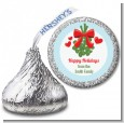 Mistletoe - Hershey Kiss Christmas Sticker Labels thumbnail